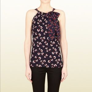 Tops - Gucci heart & beach ball navy halter top